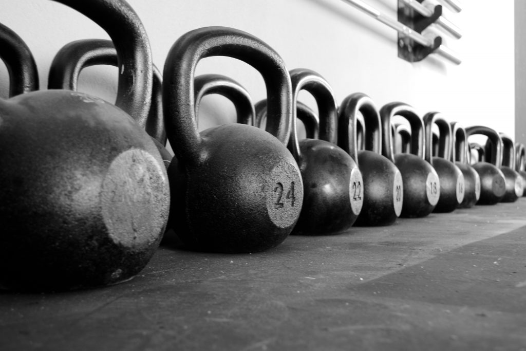 Kettle Bells in Row
